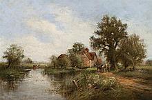 Henry Kinnaird, British (1861-1929), An Old Mill, Suffolk, oil on canvas,