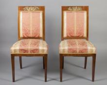 Pair of Italian Upholstered Side Chairs