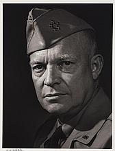 Yousuf Karsh, American/Canadian (1908-2002), Dwight Eisenhower, silver gelatin print, 9 1/2 x 7 1/8 inches