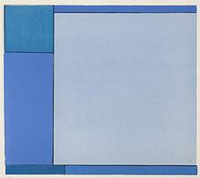 Ludwig Sander, American (1906-1975), Three Blues, 1966, color lithograph, edition #170/210, 16 1/4 x 18 inches