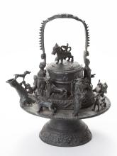 Chinese Archaic Style Bronze Ritual Teapot