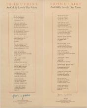 John Updike, An Oddly Lovely Day Alone, Waves Press, 1979
