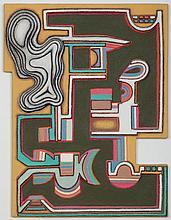 Hal Poth, American (b. 1924), Omni II, 1993, molded paper, 26 x 28 1/2 inches