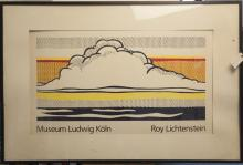 After Roy Lichtenstein, Exhibition poster for Myseum Ludwig Koln, framed.