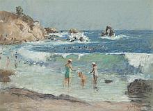 Gustav Goetsch, American (1877-1969), The bathers, 1958, pastel on paper, 11 x 15 inches