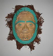 Contemporary Northwest Coast Moon Mask