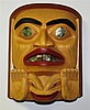 Stan Bevan (b. 1961) Canadian, Carved Polychrome Mask