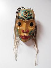 Eugene Alfred (b.1970) Canadian, Northwest Coast Portrait Mask