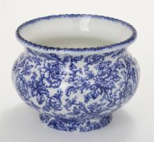 English Pottery Flow Blue Jardiniere