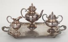 Wurttemberg Silver Plate Co., Geislingen, Germany, Teaset