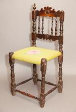 Antique William and Mary Style Side Chair