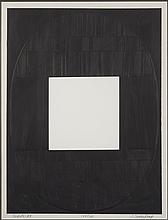 Jack Sonenberg, American (b. 1925), Oracle #3, etching, embossing and cut out, 21 1/2 x 16 1/2 inches
