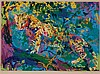 Leroy Neiman, American (1921-2012), Leopard, serigraph, 24 x 33 1/2 inches