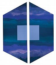 Paul Allen Reed, American (b. 1919), Gilport D XXVI, 1972, acrylic on canvas, 58 x 56 inches