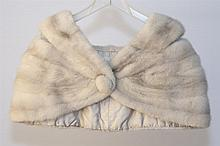 Ralph Rupley white mink stole and collar