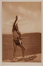 Edward Sheriff Curtis, American (1868-1952), Invocation - Sioux, photogravure, on tissue,