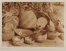 Edward Sheriff Curtis, American (1868-1952), Karok Baskets, photogravure, on tissue,