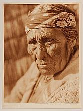 Edward Sheriff Curtis, American (1868-1952), Old Klamath Woman, photogravure, on tissue,