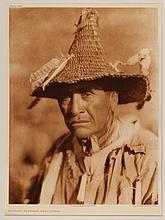 Edward Sheriff Curtis, American (1868-1952), Klamath Warriors Head-dress, photogravure, on tissue,