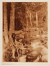 Edward Sheriff Curtis, American (1868-1952), The Salmon Stream, photogravure, on tissue,