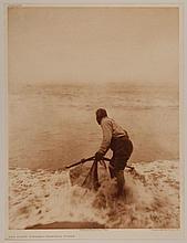 Edward Sheriff Curtis, American (1868-1952), The Smelt Fisher - Trinidad Yurok, photogravure, on tissue,