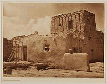 Edward Sheriff Curtis, American (1868-1952), Paguate Watchtower, photogravure, on tissue,