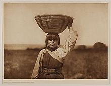Edward Sheriff Curtis, American (1868-1952), From the Threshing Floor - San Juan, photogravure, on tissue,