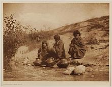 Edward Sheriff Curtis, American (1868-1952), Gossiping - San Juan, photogravure, on tissue,