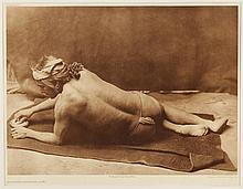 Edward Sheriff Curtis, American (1868-1952), Grinding Medecine - Zuni, photogravure, on tissue,