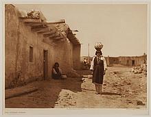 Edward Sheriff Curtis, American (1868-1952), Sia Street Scene, photogravure, on tissue,