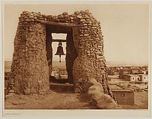 Edward Sheriff Curtis, American (1868-1952), Acoma Belfry, photogravure, on tissue,