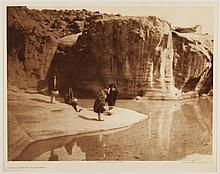 Edward Sheriff Curtis, American (1868-1952), Acoma Water Carriers, photogravure, on tissue,