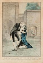 Nathanial Currier, American, The Prodigal Son, circa 1840's, set of four hand colored lithographs, 14 x 10 inches