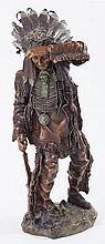 Carl Kauba, Austrian (1865-1922), Chief White Cloud, bronze, height: 19 inches