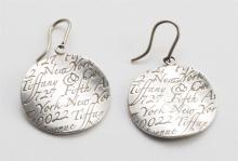 Tiffany & Co. Notes sterling silver earrings