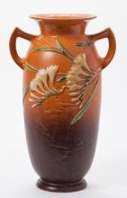 Roseville Pottery Vase, 'FREESIA' pattern