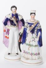 Pair of Staffordshire Figures of Victoria and Albert