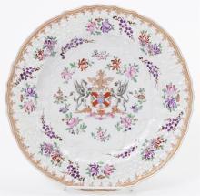 Porcelaine de Paris Porcelain Armorial Plate