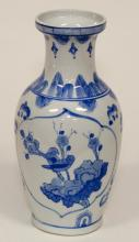Chinese Export Blue and White Porcelain Vase, 20th Century