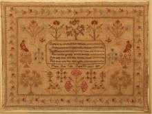 Sampler by Mary Ann Cole, Aged 14, dated 1837