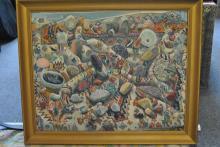 Elizabeth Cavanagh Cohen, oil on canvas abstract painting, framed