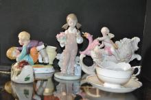 A nice collection of assorted porcelain including Lenox and a Lladro figure