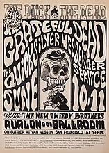 Wes Wilson, American (b. 1935), The Quick and the Dead, The Grateful Dead at Avalon Ballroom, Oct. 10 & 11, 1966, 20 x 14 inches