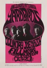 John H. Myers, American, 20th century, One Sunday Afternoon, Yardbirds with Country Joe and the Fish at the Fillmore, 1966, color li...