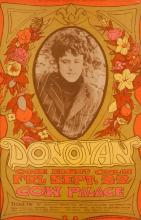 Bonnie Maclean, American (20th century), Donovan 1967 Cow Palace concert poster, Bill Graham #86, 20 3/4 x 13 3/4 inches