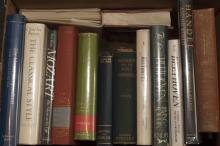 A Collection of 30 Books on Ludwig van Beethoven, Wolfgang Amadeus Mozart, and George Frideric Handel