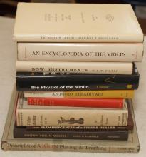 A Collection of 10 Books on Violins, Violin Makers, Violin Playing, and Bows,