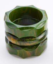 Dark green bakelite bangle bracelets