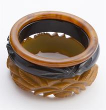 Collection of bakelite bangle bracelets