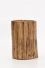Naturalistic Agar wood Brush Pot